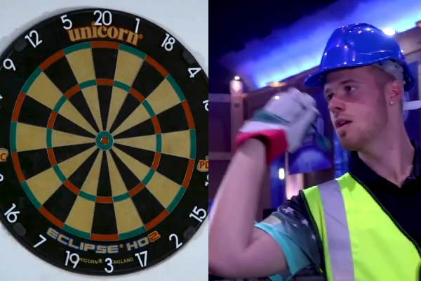 Max Hopp Hits Some Incredible Darts In Heavy Duty Gloves Challenge