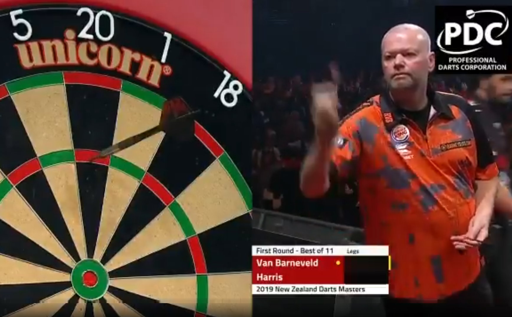 Watch Last Darts Van Barneveld v Harris At New Zealand Darts Masters