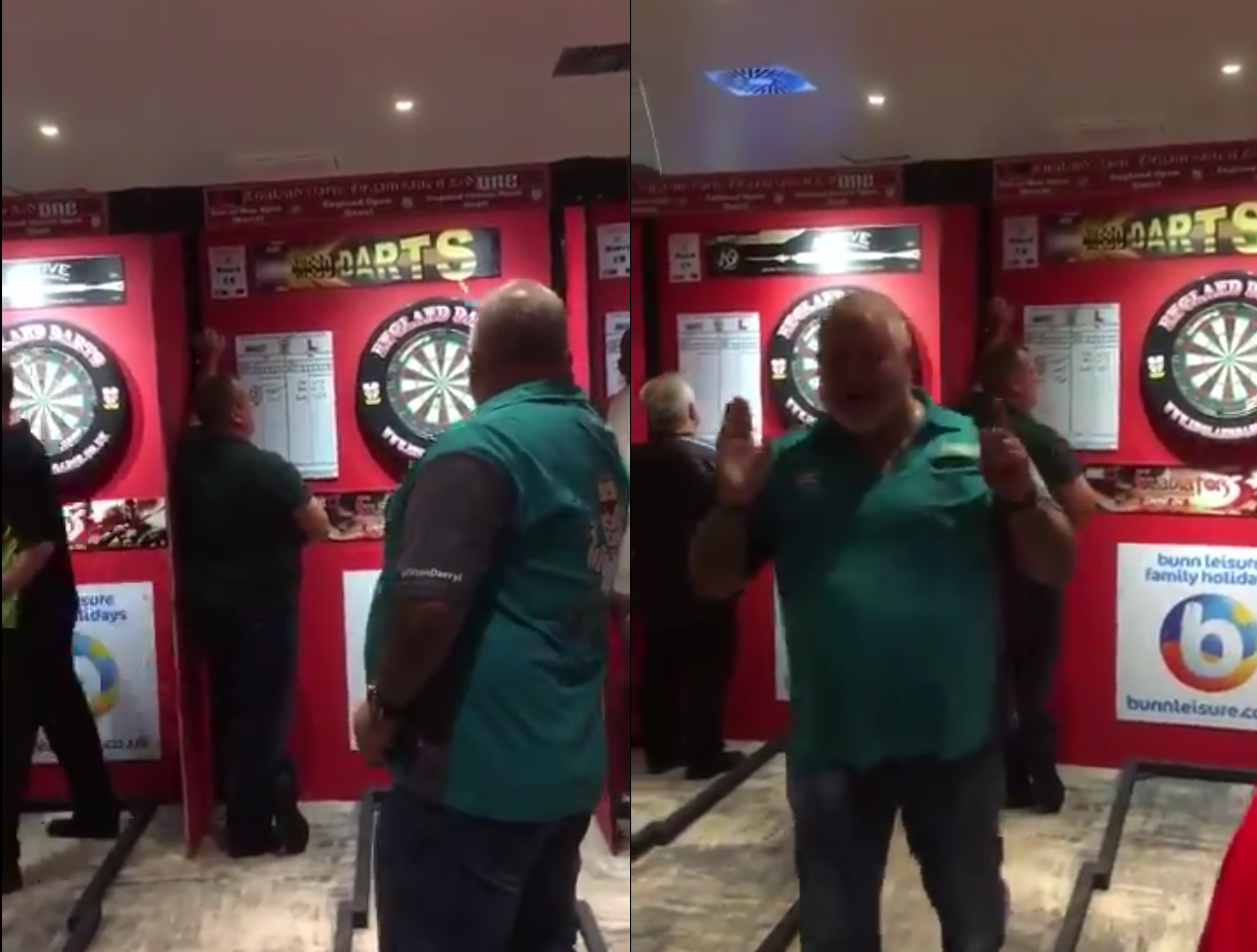 Worst Timing For Announcer During Darryl Fitton's 9-Darter Attempt