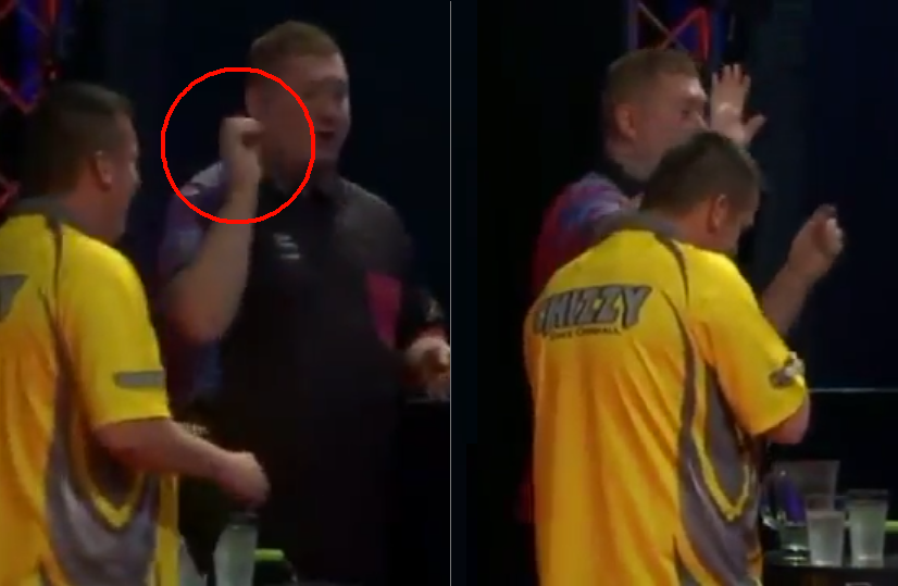 VIDEO: Ricky Evans Accidentally Throws One Of His Darts Into The Crowd 🙈