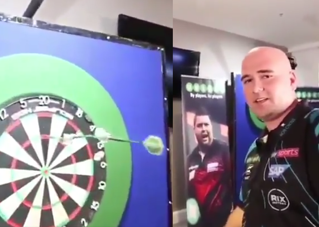 VIDEO: Rob Cross Got Challenged To Hit A Triple 'Robin Hood'