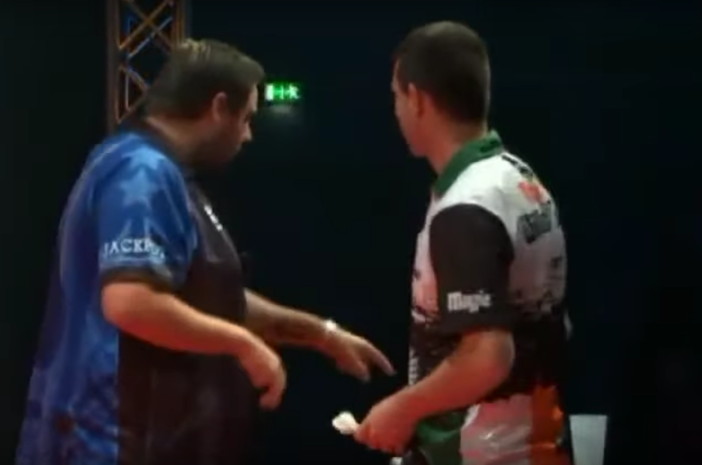 Adrian Lewis and William O'Connor Water Incident On Stage