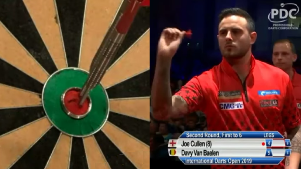 Joe Cullen Hits Double Double Double Checkout At International Darts Open