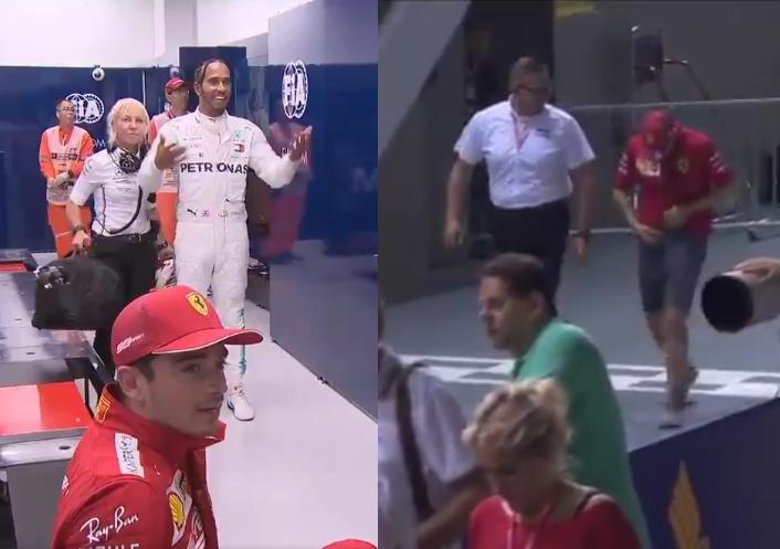 Hilarious Reaction By Lewis Hamilton On Sebastian Vettel's Shorts