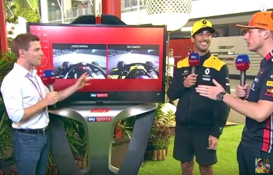 Full Clip: Max Verstappen And Daniel Ricciardo Reviewing Lap Times