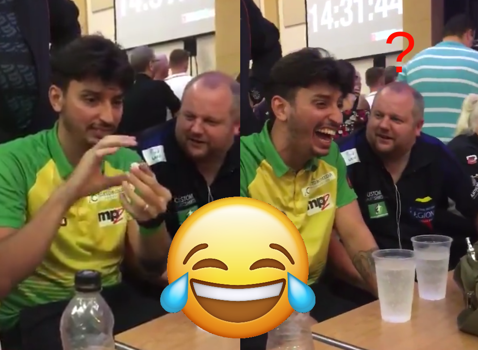 Hilarious Reaction By Aaron Turner On Diego Portela's Magic Trick