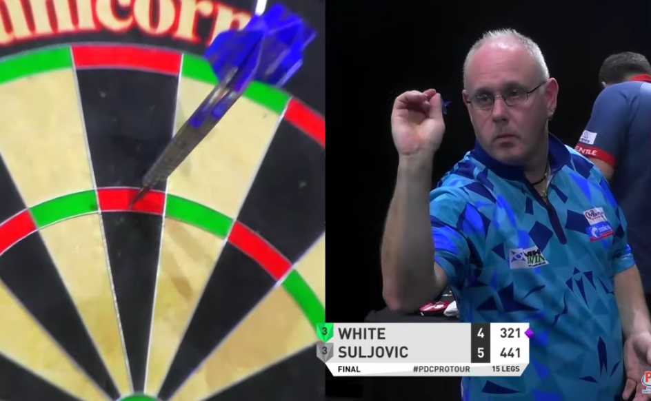 VIDEO: Ian White Hits 9-Darter In Players Championship Final