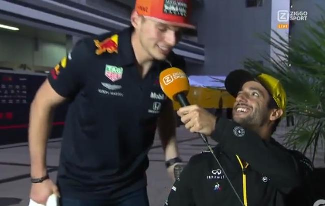 Hilarious Moment When Verstappen Interrupts Daniel Ricciardo's Interview