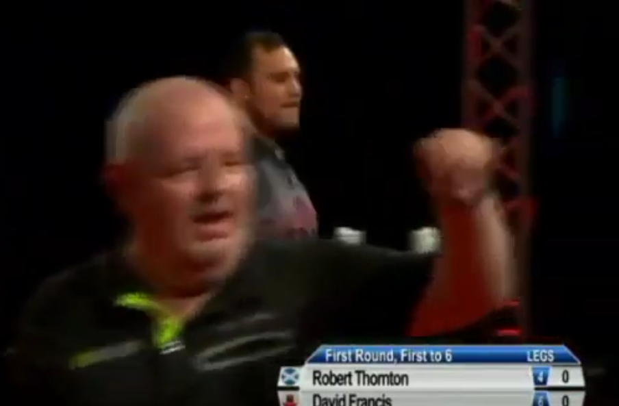 VIDEO: Robert Thornton Incident With Crowd At Gibraltar Darts Trophy