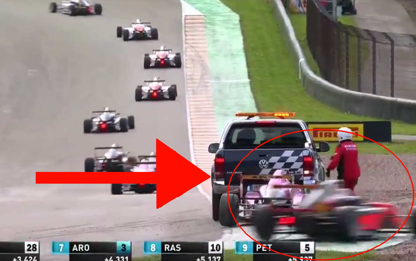 This Scary Moment Happened During Today's Formula 4 Race