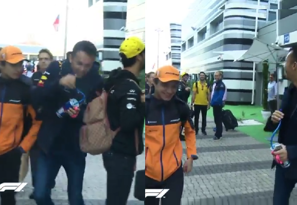 Lando Norris Was Again On Fire During Walk To Track In Russia