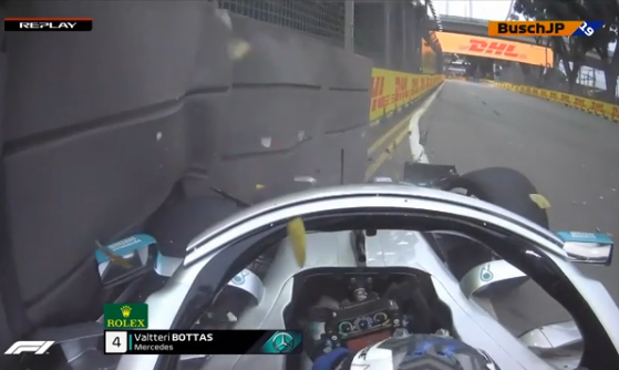 RED FLAG: Valtteri Bottas Crashed Into The Wall During FP1