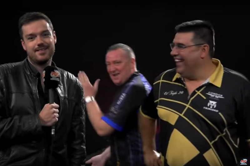 VIDEO: Glen Durrant With Hilarious Interview Bombing Moment