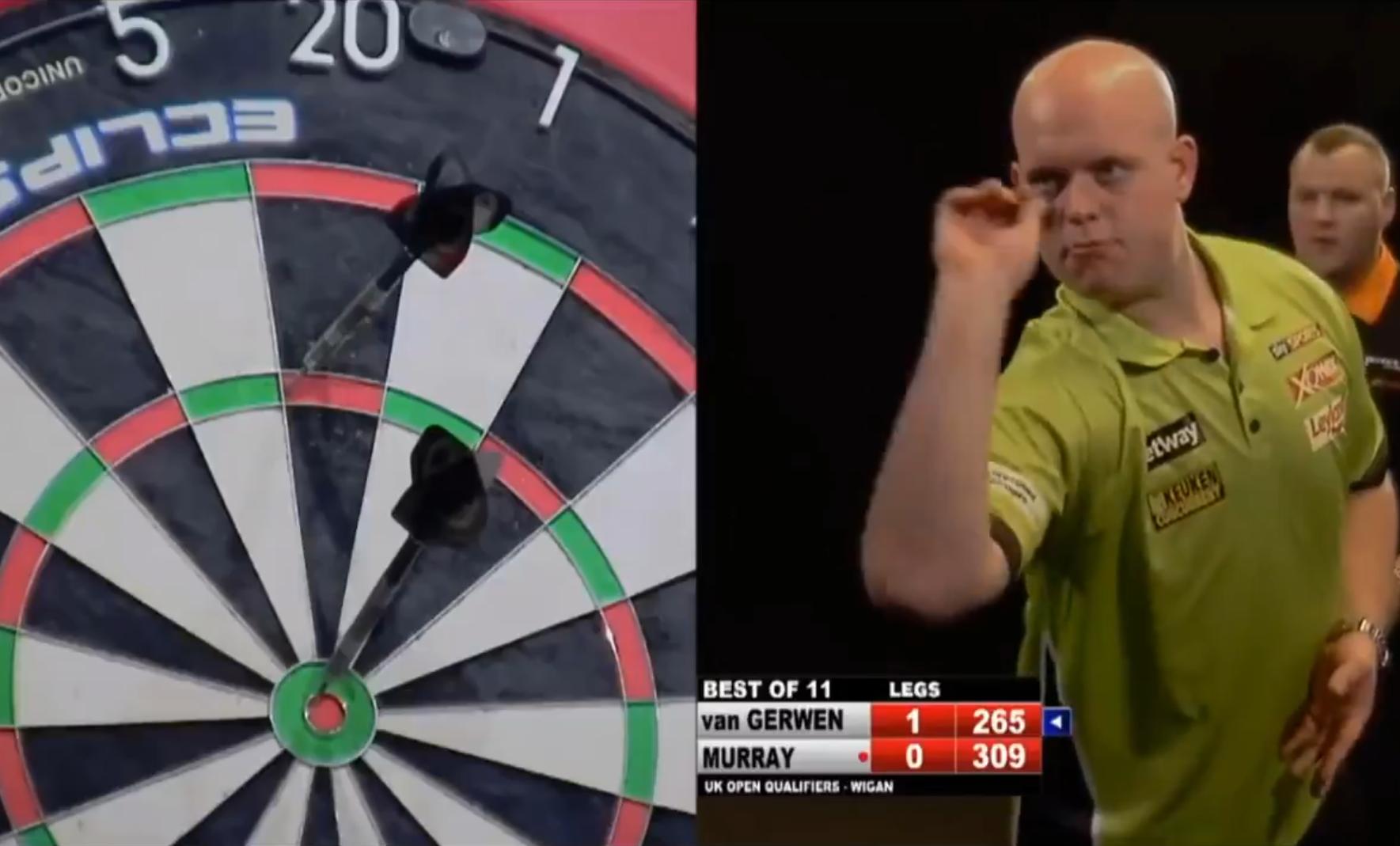 Van Gerwen Shows Most Incredible Darts Ever Seen From 265