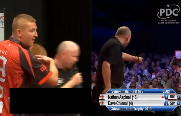 George Noble Having A Go At Someone In Crowd Gibraltar Darts Trophy