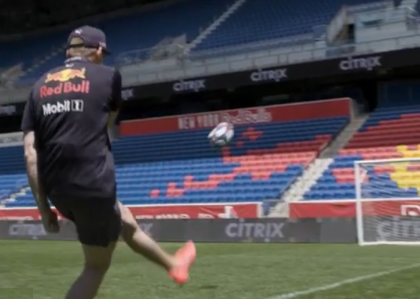 VIDEO: Max Verstappen Does Crossbar Challenge For Charity