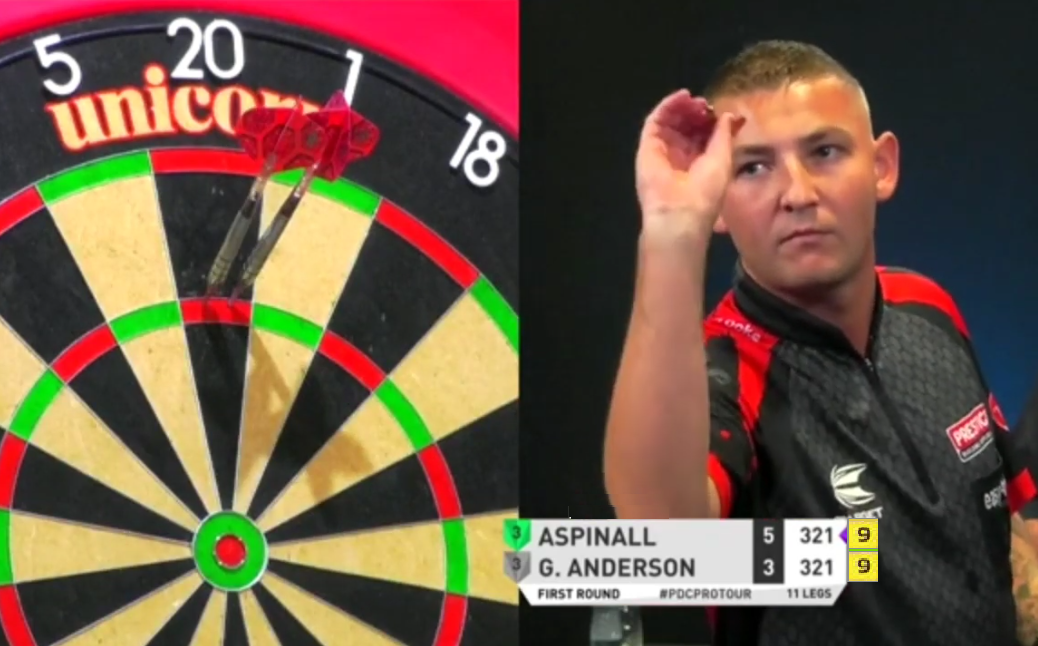 Nathan Aspinall's Attempt To Beat Gary Anderson With 9-Darter