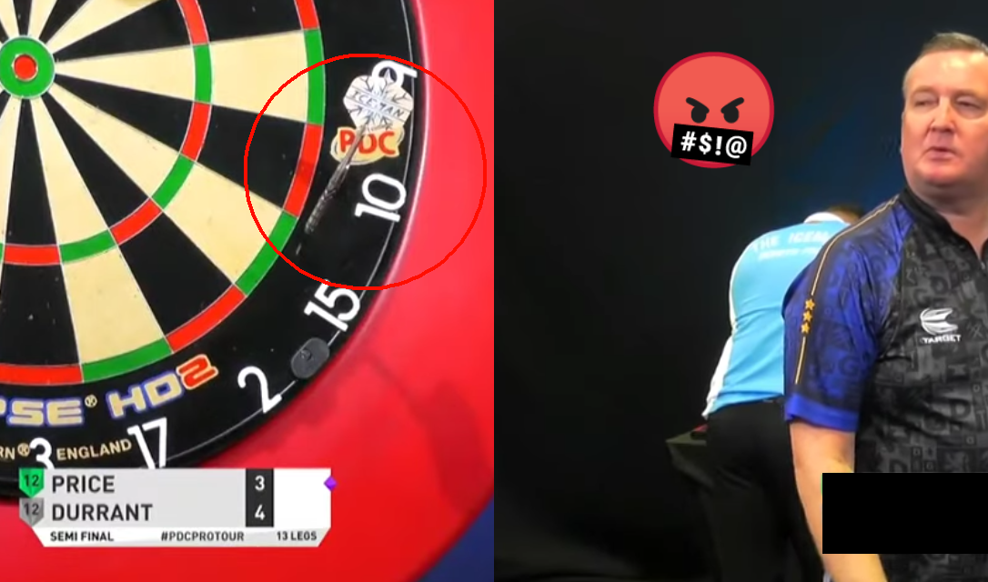 Gerwyn Price Completely Missed The Board During Today's Semi Final