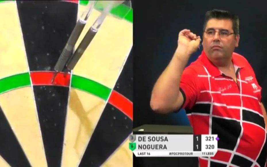 VIDEO: José de Sousa's 9-Darter Attempt Ends In Ridiculous Way