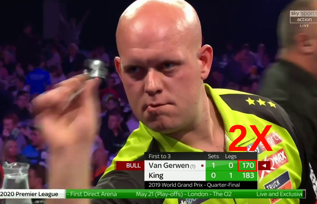VIDEO: Two 170's In One Set During Match Van Gerwen Against King