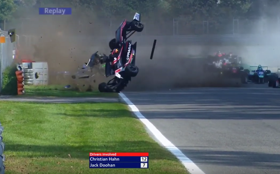 This Crash Happened During Today's Euro Formula Open At Monza
