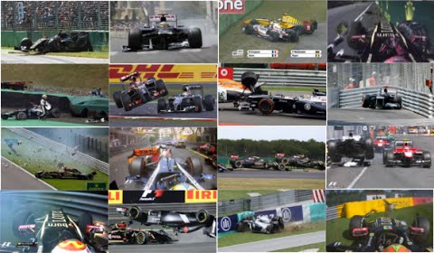 Pastor Maldonado Crash Compilation: 40 Crashes in 5 Years F1