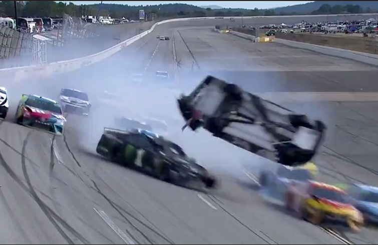 Brendan Gaughan Flips In Massive Crash In Last Laps at Talladega