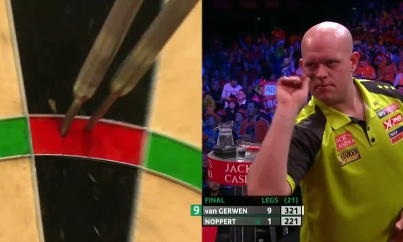 This Happened To Van Gerwen After Scoring 499 Points With Only 9 Darts
