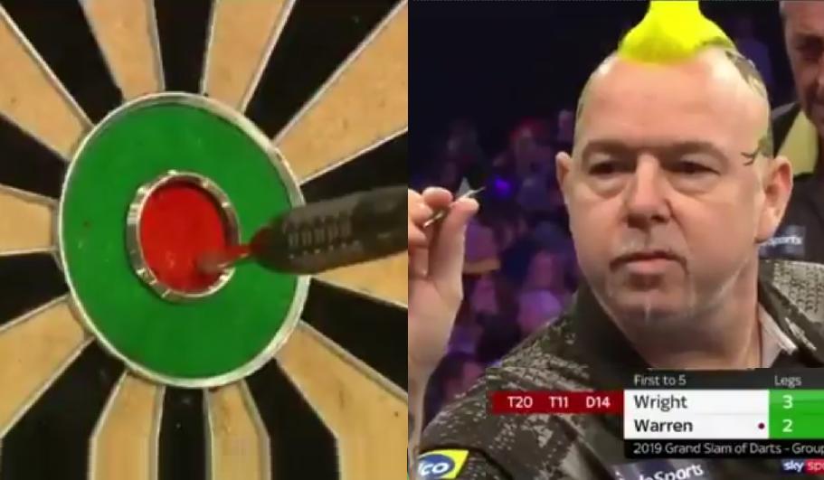 Peter Wright Shows Bull-Bull Demo Shot Attempt At Grand Slam 2019