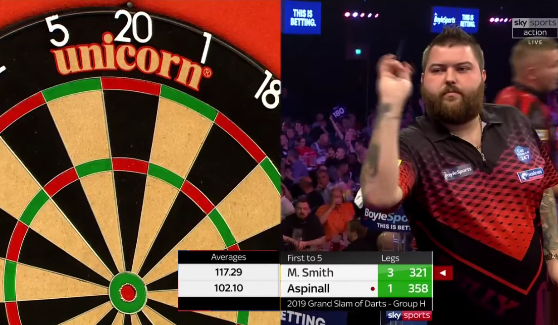 Michael Smith's Attempt To Beat Taylor's Record Average Of 114.65