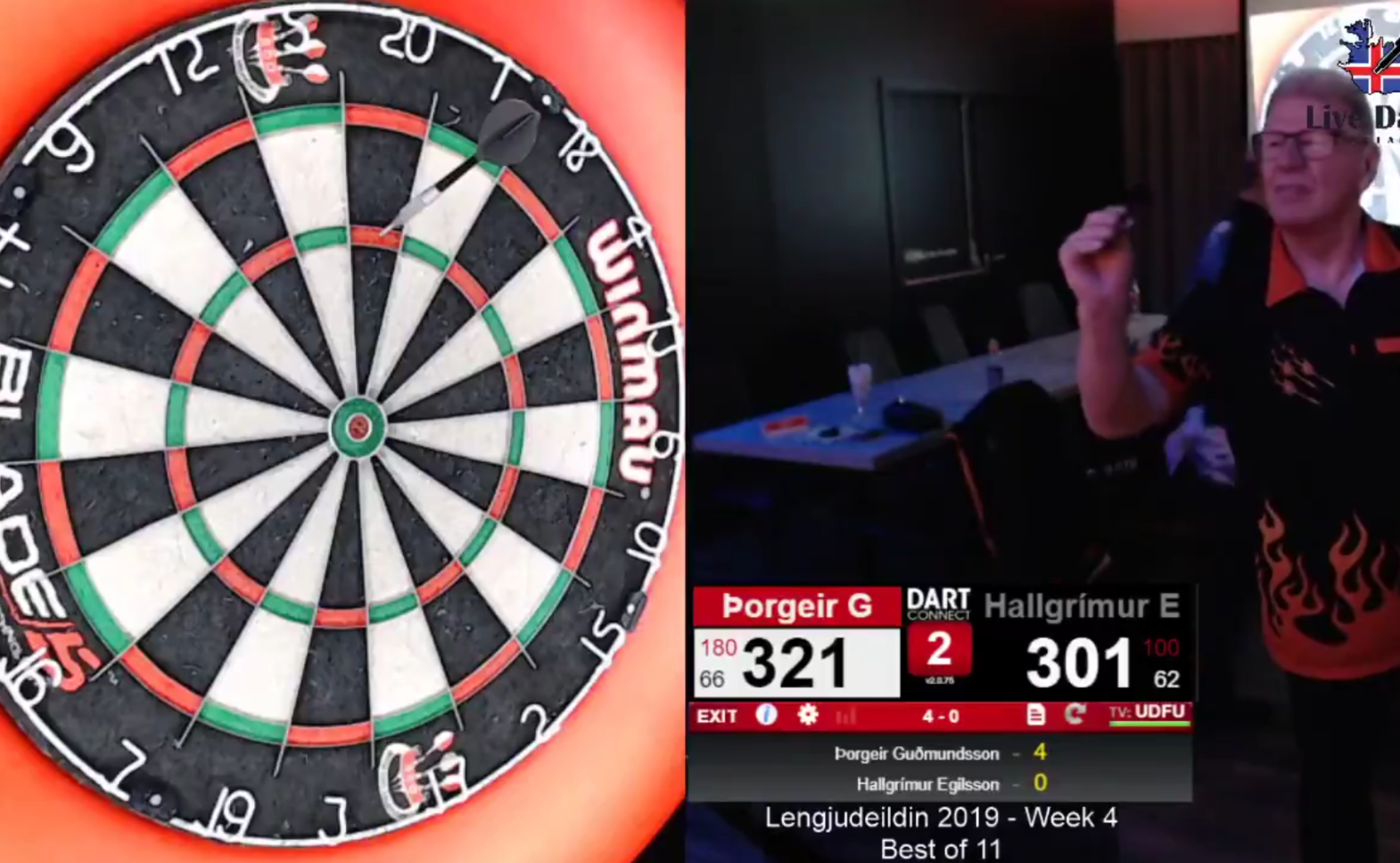 Watch 75-Year-Old Darts Player Being A Boss And Hit An 11-Darter