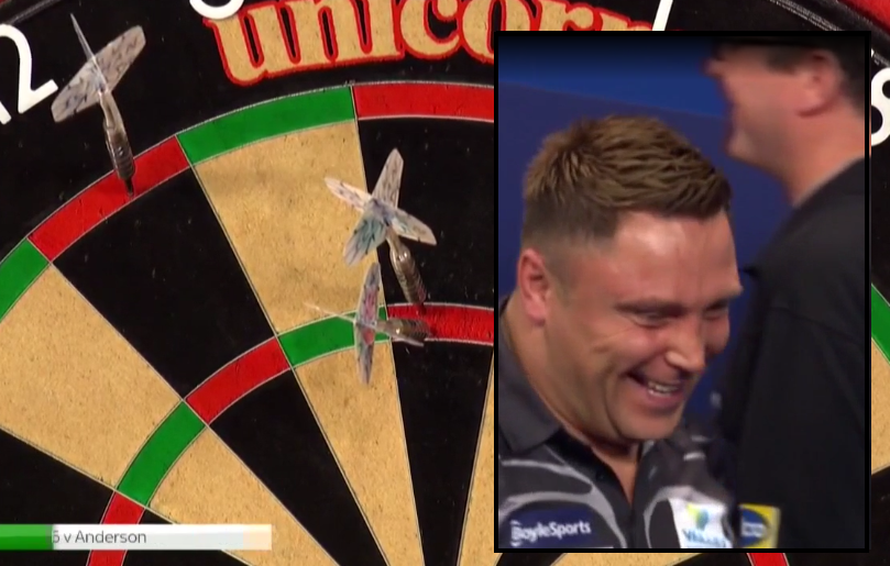 VIDEO: Gerwyn Price Hits Unofficial 9-Darter During Last Night's Quarter Final