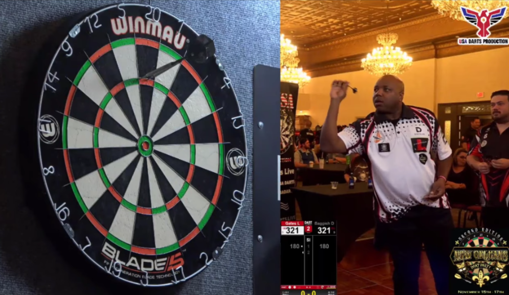 Leonard Gates 9 Darter Attempt at New Orleans Dart Party 2019