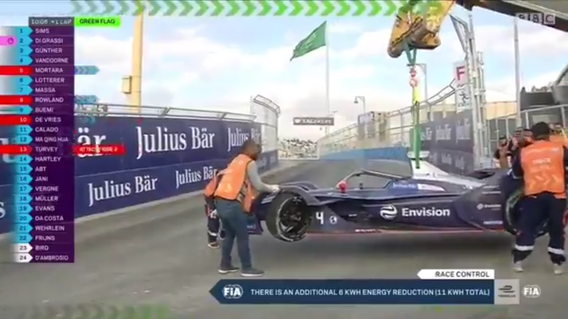 Formula E Safety Car Ending While Marshalls Were Still On Track