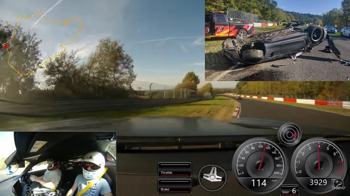 Onboard Footage: Mercedes AMG Crash And Flip 7 Times At Nürburgring