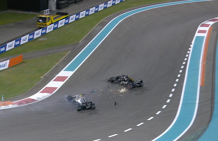 VIDEO: Incident Between Romain Grosjean And Valtteri Bottas