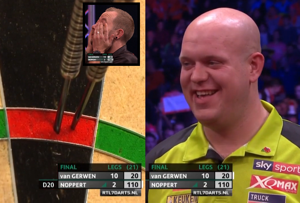 Van Gerwen Having A Laugh At Noppert's Busting 110 Checkout