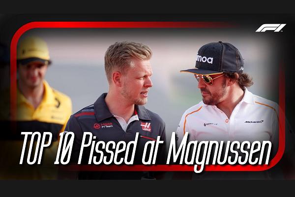 Top 10 Pissed at Kevin Magnussen Team Radio's