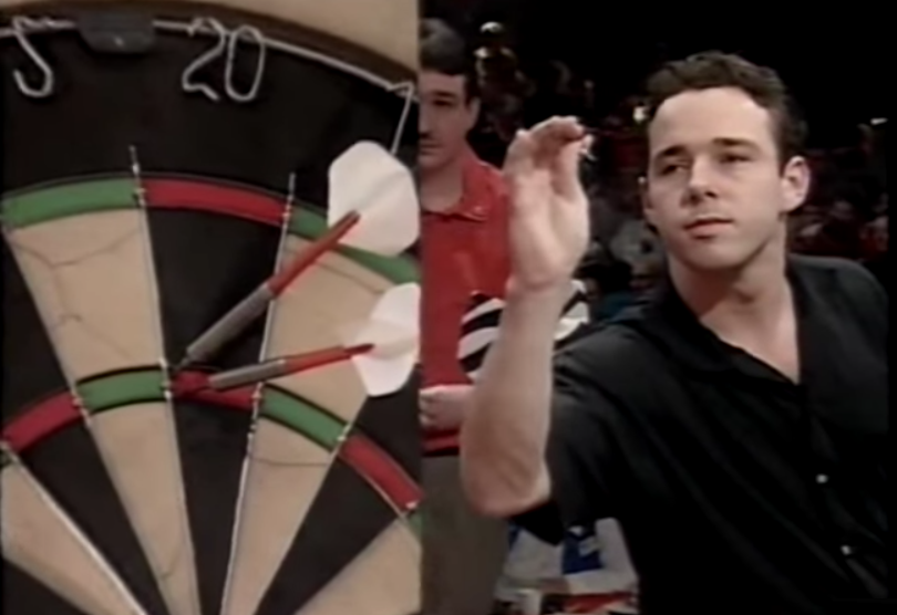 Watch 25 Years Old Footage of Young Peter Wright Hit A 180