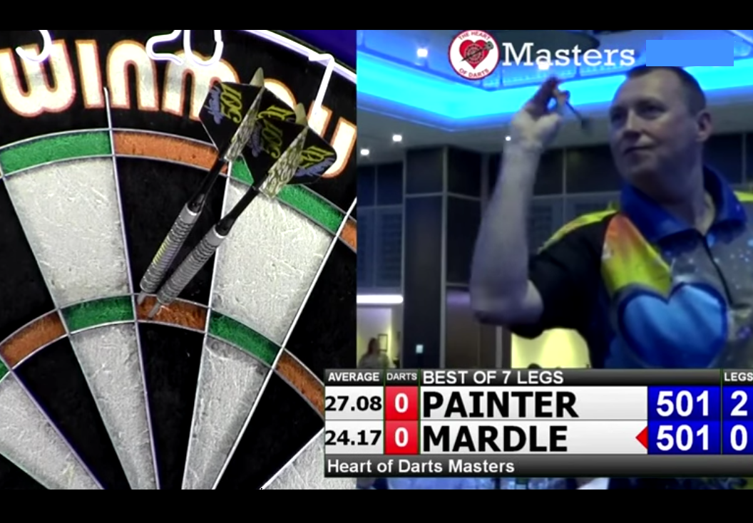 Watch Wayne Mardle's 9-Darter Attempt During Exhibition Night