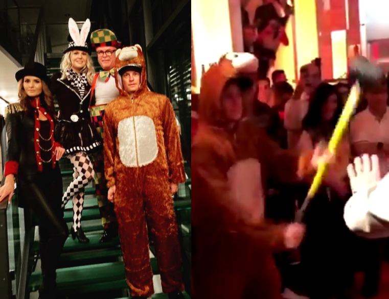 Watch Drunk Kimi Raikkonen In Party Style Modus At Christmas Party