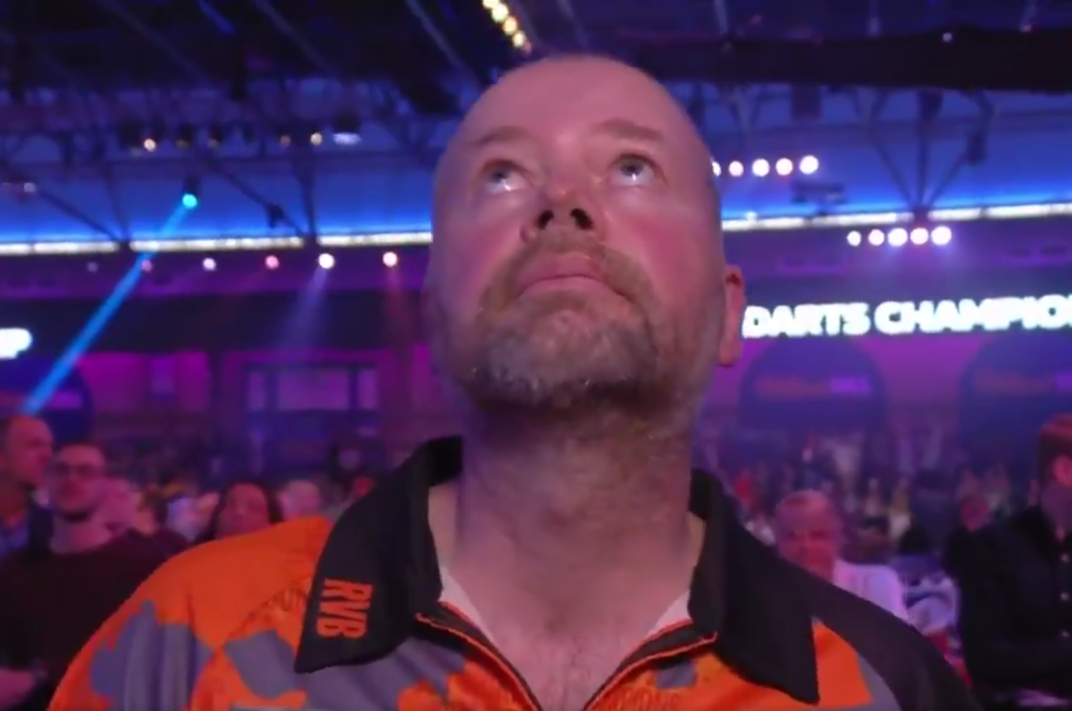 Emotional Reaction By Raymond van Barneveld After His Last Match