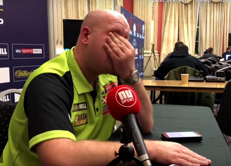Michael van Gerwen In Tears Explaining Why He Hates Jelle Klaasen