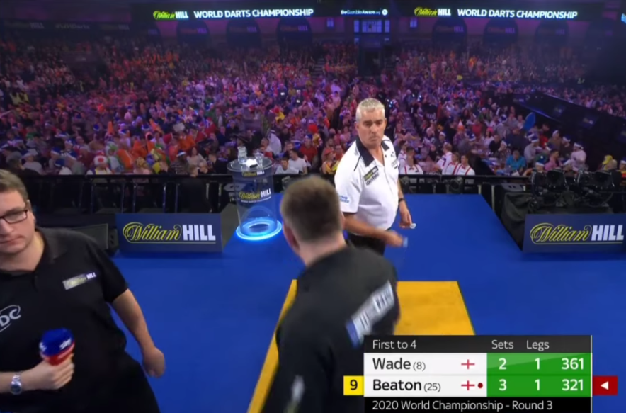 Incident Between James Wade And Steve Beaton During Their Game