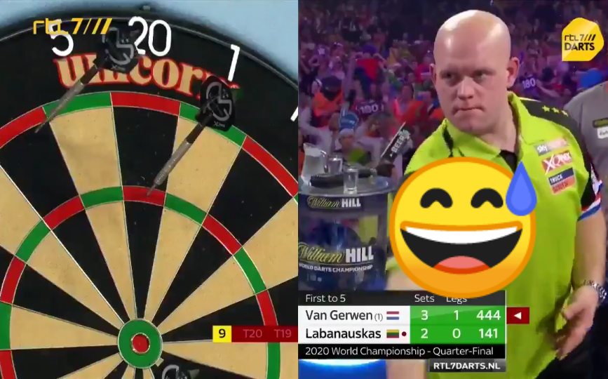 VIDEO: Van Gerwen Trying To Show 141-Checkout When On 444