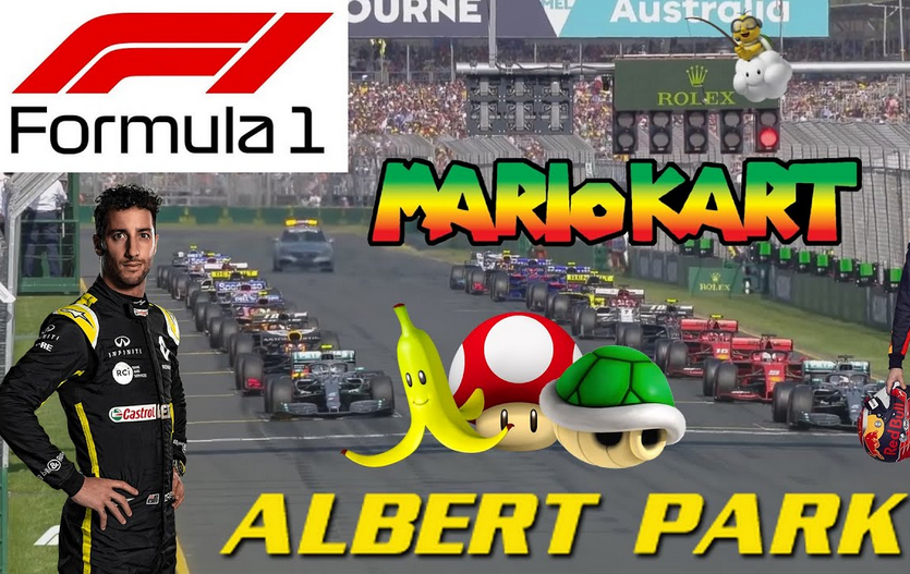 Watch Formula 1 Australian Grand Prix in Mario Kart Style