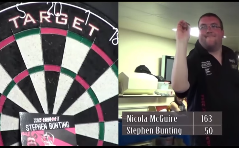 Stephen Bunting Finished Game With A Blind Bulls-Eye Shot
