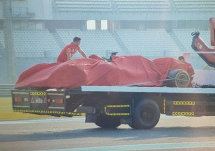 Charles Leclerc Crashed During Today's Abu Dhabi Test Day