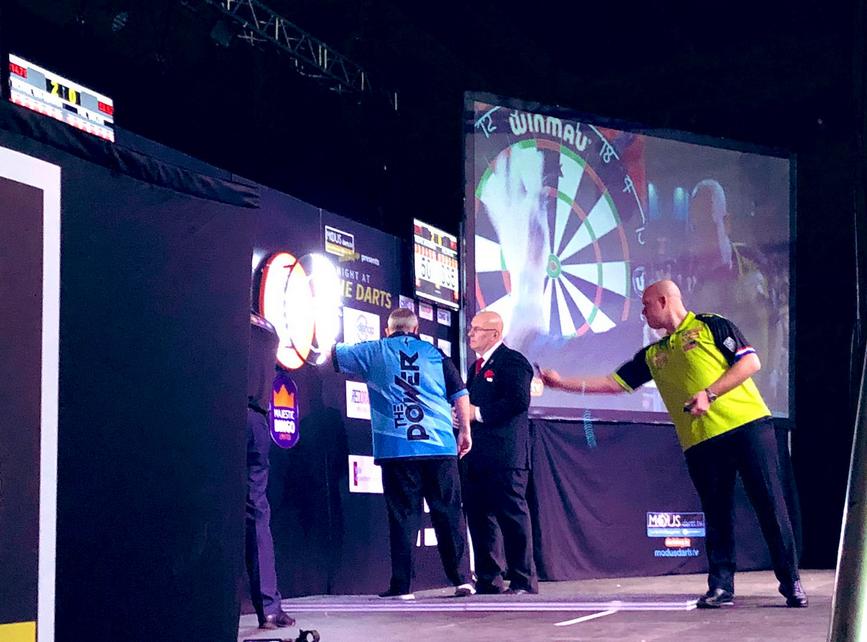 Michael van Gerwen Beats Phil Taylor At 'Night At The Darts 2019'