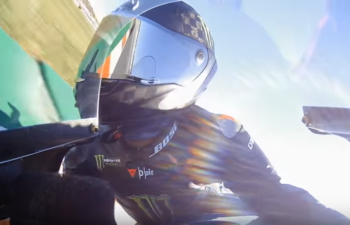 Onboard Footage: Lewis Hamilton At Rossi's MotoGP Yamaha YZR-M1